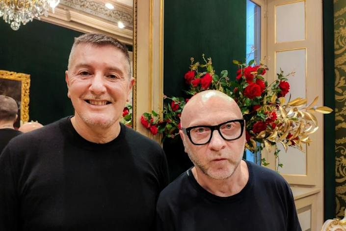Dolce, 62, and Gabbana, 58, spoke to AFP from an opulent Milan mansion where a series of mini-films for their upcoming haute couture collections were being shot