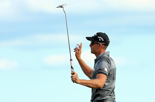 """<h1 class=""""title"""">Hero World Challenge - Final Round</h1> <div class=""""caption""""> NASSAU, BAHAMAS - DECEMBER 07: Henrik Stenson of Sweden reacts after winning the Hero World Challenge at Albany on December 07, 2019 in Nassau, Bahamas. (Photo by Mike Ehrmann/Getty Images) </div> <cite class=""""credit"""">Mike Ehrmann</cite>"""