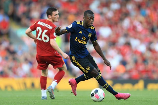 Henry has backed Pepe to improve. (Photo by Simon Stacpoole/Offside/Offside via Getty Images)