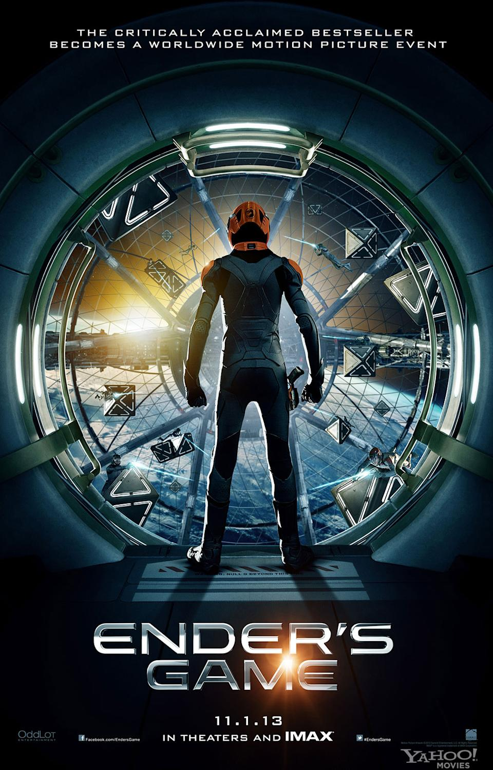 """The Battle Room is revealed in the teaser poster for Summit Entertainment's """"Ender's Game"""" - 2013<br><br> <a href=""""http://l.yimg.com/os/251/2013/03/25/endersgame-poster-watermark-jpg_154535.jpg"""" rel=""""nofollow noopener"""" target=""""_blank"""" data-ylk=""""slk:View full size >>"""" class=""""link rapid-noclick-resp"""">View full size >></a><br> <a href=""""http://movies.yahoo.com/blogs/movie-talk/ender-game-exclusive-poster-reveal-gives-first-glimpse-155338510.html"""" data-ylk=""""slk:Interview: Director Gavin Hood on Designing the Battle Room >>;outcm:mb_qualified_link;_E:mb_qualified_link;ct:story;"""" class=""""link rapid-noclick-resp yahoo-link"""">Interview: Director Gavin Hood on Designing the Battle Room >></a>"""