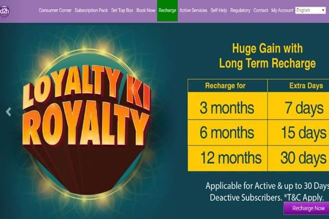 d2h, DTH, free service, inactive user, Dish TV, tata sky, industry news, Airtel Digital TV,Android TV, Dish TV India,d2h recharge,d2h login, d2h plans