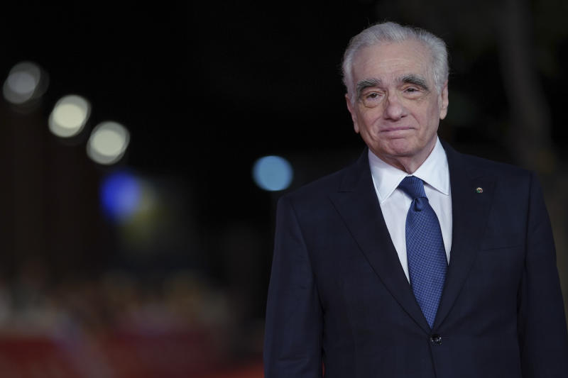 "Director Martin Scorsese poses on the red carpet of the movie ""The Irishman"", at the Rome Film Fest, in Rome, Monday, Oct. 21, 2019. (AP Photo/Andrew Medichini)"