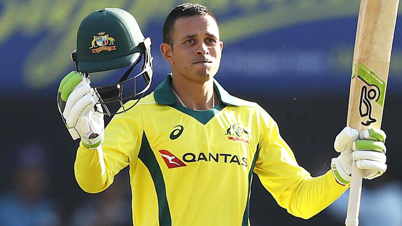 Usman Khawaja, pictured here in action for Australia in India in 2019.