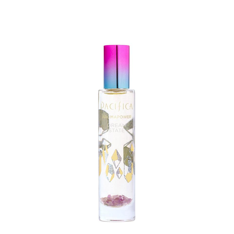 """<p>Spritz on this amethyst-infused scent to help enhance creativity and bring a feeling of calm to your inner self. $24, <a rel=""""nofollow"""" href=""""https://www.ulta.com/aromapower-micro-batch-perfume-dream-state?productId=xlsImpprod17911217&sku=2523961&cmpid=PS_Non!google!Product_Listing_Ads&cagpspn=pla&CATCI=pla-448444299042&CAAGID=17983769670&CAWELAID=330000200001360463&CATARGETID=330000200001431770&cadevice=c&gclid=EAIaIQobChMI596sssPW2wIVSiSBCh2QHwXEEAYYASABEgJwLfD_BwE"""">ulta.com</a> (Photo: Pacifica Beauty) </p>"""