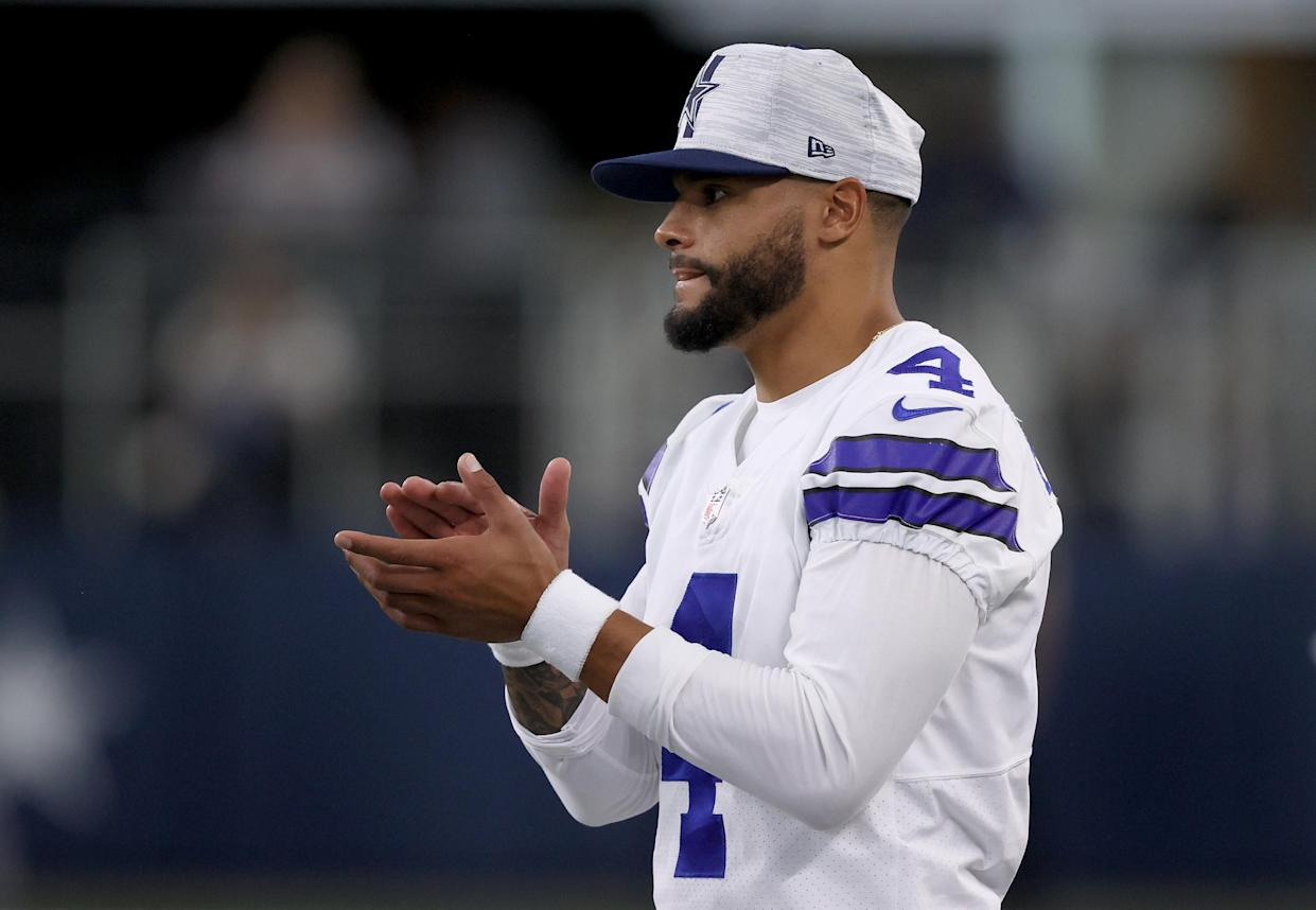 Last October, Dak Prescott couldn't feel his toes following a broken ankle. On Thursday, he'll lead the Dallas Cowboys into the 2021 NFL season opener at Tampa Bay. (Photo by Tom Pennington/Getty Images)
