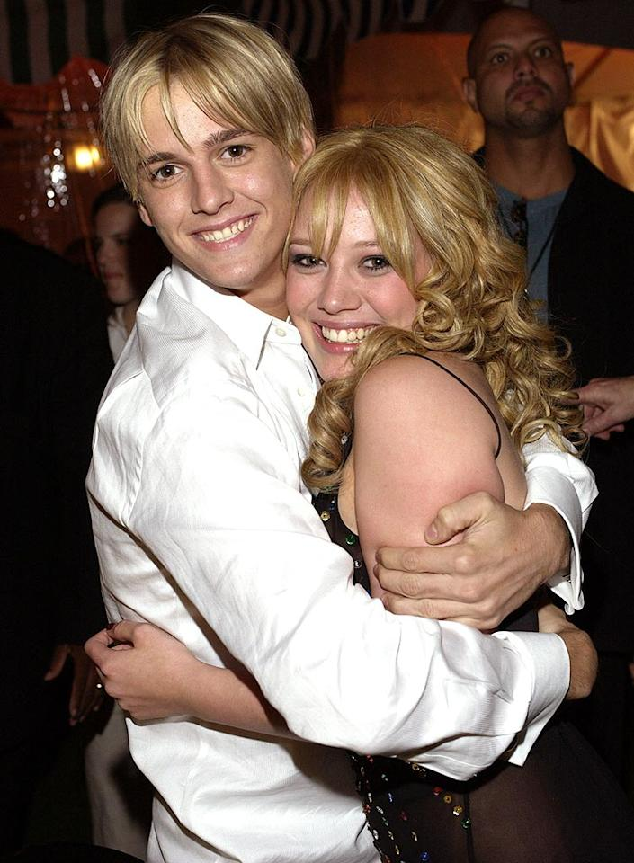 "Remember Aaron Carter, the younger brother of Backstreet Boy Nick Carter and singer behind the 2000 hit single ""Aaron's Party (Come Get It)""? Even if you don't remember those details, you probably recall that in 2001, singer/actress Hilary Duff was the guest of honor at that party. The two seemed like a match made in <i>Billboard</i> chart heaven, until ... L. Cohen/<a href=""http://www.wireimage.com"" target=""new"">WireImage.com</a> - April 26, 2003"