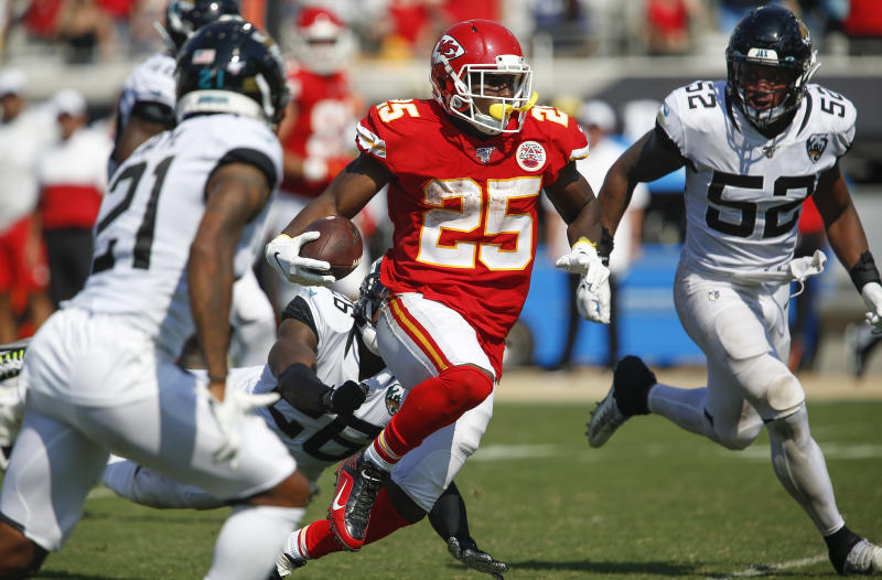 LeSean McCoy has quickly regained fantasy value after landing with the Kansas City Chiefs. (Reinhold Matay-USA TODAY Sports)