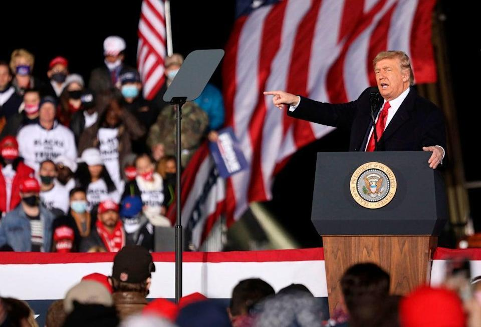 Donald Trump at a rally in Georgia in January, 2021.  (AFP/Getty)