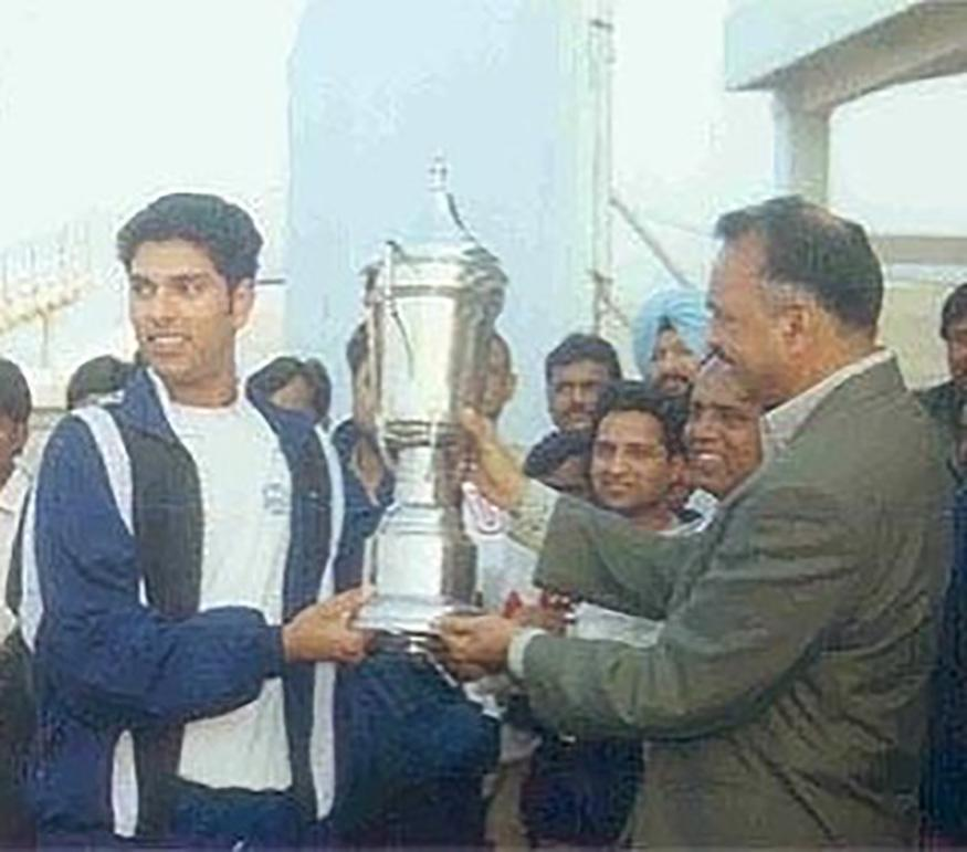 Under-19 World Cup, 2000: Yuvraj Singh arrived on the international cricket scene with a swashbuckling knock of 68 runs in India's third game in 2000 Under-19 World Cup against New Zealand. He followed it up with a four-wicket haul to earn the man of the match award. Yuvraj scored 203 runs including two fifties in and took 12 wickets in the tournament, which India won by defeating hosts Sri Lanka in the finals. (Image: Instagram)