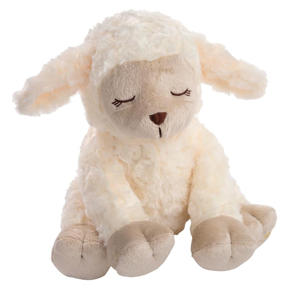 """<p>This <a href=""""https://www.popsugar.com/buy/SwaddleMe-Mommies-Melodies-Lamb-Lullaby-Soother-408008?p_name=SwaddleMe%20Mommies%20Melodies%20Lamb%20Lullaby%20Soother&retailer=walmart.com&pid=408008&price=20&evar1=moms%3Aus&evar9=45985816&evar98=https%3A%2F%2Fwww.popsugar.com%2Fphoto-gallery%2F45985816%2Fimage%2F46596650%2FSwaddleMe-Mommies-Melodies-Lamb-Lullaby-Soother&list1=toys%2Cbabies%2Cgifts%20for%20babies&prop13=api&pdata=1"""" rel=""""nofollow"""" data-shoppable-link=""""1"""" target=""""_blank"""" class=""""ga-track"""" data-ga-category=""""Related"""" data-ga-label=""""https://www.walmart.com/ip/SwaddleMe-Mommies-Melodies-Lamb-Lullaby-Soother/804328130"""" data-ga-action=""""In-Line Links"""">SwaddleMe Mommies Melodies Lamb Lullaby Soother</a> ($20) will put your baby right to sleep in the most relaxing way.</p>"""