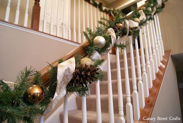 """<p>Make this easy garland in a jiffy by dressing up plain greenery with ornaments and pine cones, then wrap with glittery ribbon.</p><p><strong>See more at <a href=""""https://canarystreetcrafts.com/diy-christmas-garland/"""" rel=""""nofollow noopener"""" target=""""_blank"""" data-ylk=""""slk:Canary Street Crafts."""" class=""""link rapid-noclick-resp"""">Canary Street Crafts.</a></strong></p><p><a class=""""link rapid-noclick-resp"""" href=""""https://www.amazon.com/Sea-Team-Shatterproof-Decorative-Decorations/dp/B072M7DGQJ/ref=sr_1_2?dchild=1&keywords=gold+ornament+set&qid=1633172138&sr=8-2&tag=syn-yahoo-20&ascsubtag=%5Bartid%7C2164.g.37723896%5Bsrc%7Cyahoo-us"""" rel=""""nofollow noopener"""" target=""""_blank"""" data-ylk=""""slk:SHOP GOLD ORNAMENTS"""">SHOP GOLD ORNAMENTS</a></p>"""