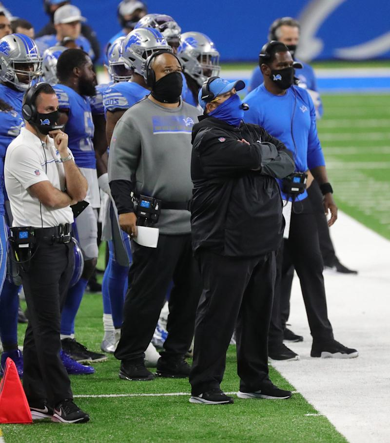 Detroit Lions head coach Matt Patricia during the second half against the New Orleans Saints, Sunday, October 4, 2020 at Ford Field.