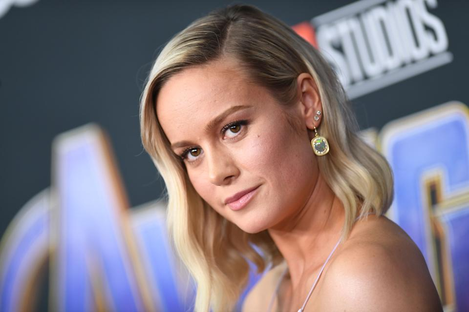 US actress Brie Larson arrives for the World premiere of Marvel Studios'