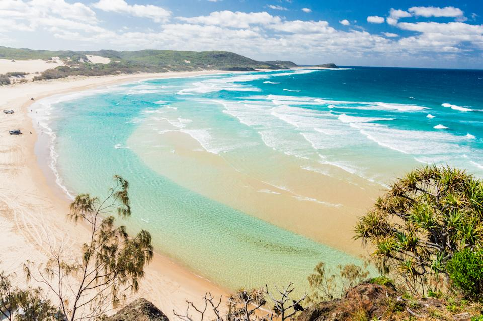 A sandy beach on Fraser Island. Source: Getty Images