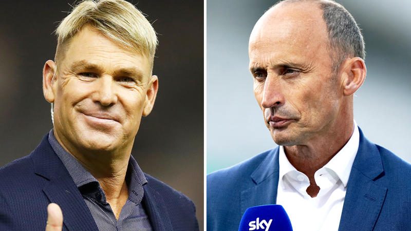 Shane Warne and Nasser Hussain, pictured here at the cricket.