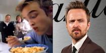 "<p>Back in 1999, a pre-Breaking Bad Aaron Paul starred in a very 90's (the spike-y hair, the short-sleeve shirt over the long-sleeve shirt, the necklace) Corn Pops <a href=""https://www.youtube.com/watch?time_continue=29&v=Kt6JI9gzECo"" rel=""nofollow noopener"" target=""_blank"" data-ylk=""slk:commercial"" class=""link rapid-noclick-resp"">commercial</a>. </p>"