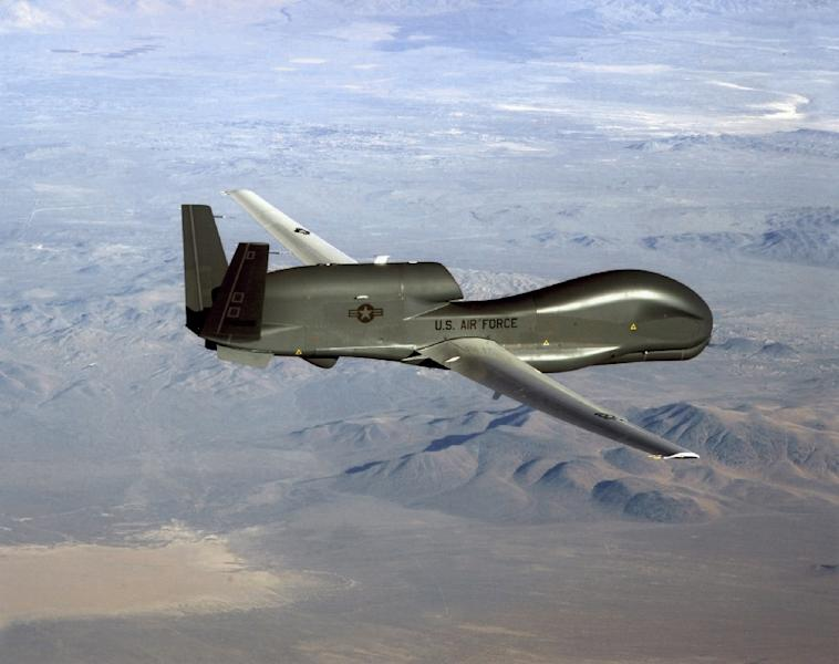Tehran insists that a US Global Hawk surveillance drone was within its airspace when it was shot down, a claim the US denies (AFP Photo/Handout)