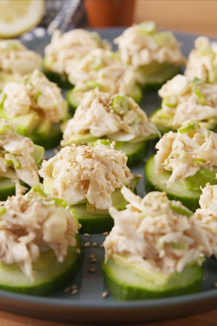 """<p>A taste of the golden state in one adorable bite.<br><br></p><p>Get the recipe from <a href=""""https://www.delish.com/cooking/recipe-ideas/recipes/a51750/california-sushi-bites-recipes/"""" rel=""""nofollow noopener"""" target=""""_blank"""" data-ylk=""""slk:Delish"""" class=""""link rapid-noclick-resp"""">Delish</a>.</p>"""