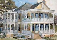 """<p>If a coastal lifestyle is what you're after, check out the Couples Cottage. This plan is a retiree's dream, with plenty of room inside for entertaining and two stories of pretty porches (open-air and screened!). Upstairs, the two bedrooms each have a private bath and access to their own personal porch.</p> <p>Two bedrooms, two-and-a-half baths</p> <p>2,090 square feet</p> <p>See plan: <a href=""""https://houseplans.southernliving.com/plans/SL1120?index=21&search%5Bbedrooms%5D%5B%5D=2&search%5Bplan%5D=&search%5Bsort%5D=&search%5Butf8%5D=✓"""" rel=""""nofollow noopener"""" target=""""_blank"""" data-ylk=""""slk:Couples Cottage (SL-1120)"""" class=""""link rapid-noclick-resp"""">Couples Cottage (SL-1120) </a></p>"""