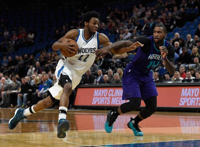 Andrew Wiggins has potential that has not yet been shown in fantasy basketball. (Photo by Hannah Foslien/Getty Images)