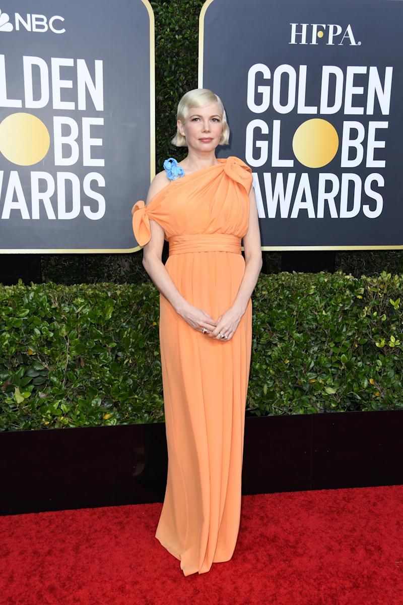 Michelle Williams pregnant at the 2020 Golden Globes
