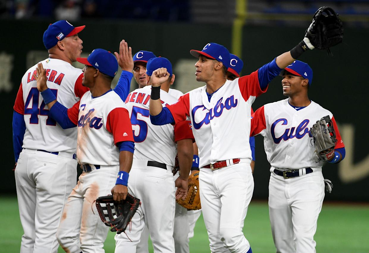 MLB and the Cuban Baseball Federation have struck a deal that would allow Cuban players to join major league organizations without defecting. (Getty Images)