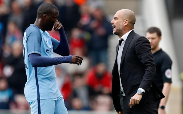 Pep Guardiola froze Toure out of the Manchester City squad earlier in the seasonCredit: Reuters