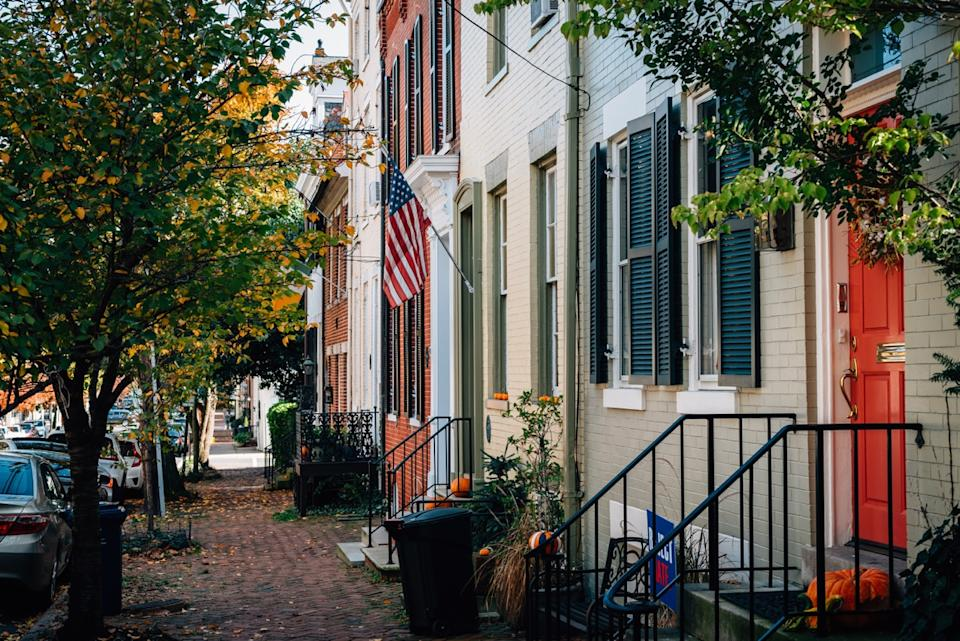 old town alexandria row of homes, useless facts