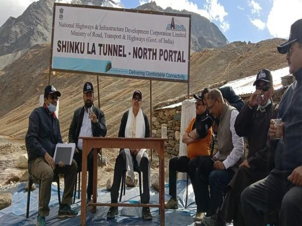 Work has speeded up in Shinku La Tunnel in Ladakh. (Photo: ANI)