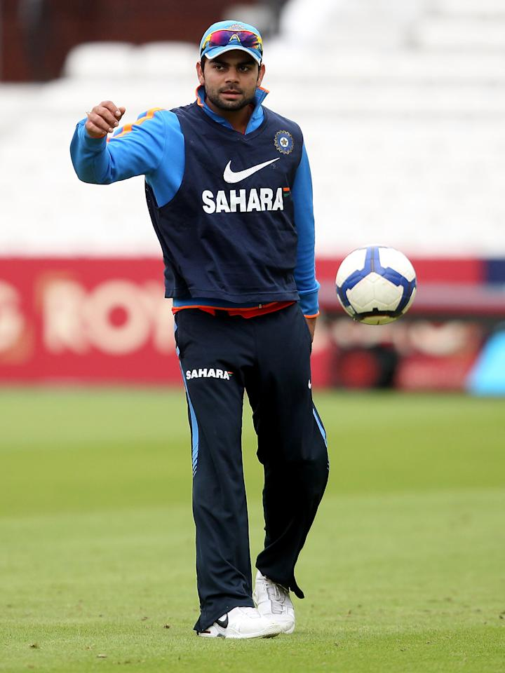 LONDON, ENGLAND - SEPTEMBER 08:  Virat Kohli of India during a nets session at The Kia Oval on September 8, 2011 in London, England.  (Photo by Scott Heavey/Getty Images)