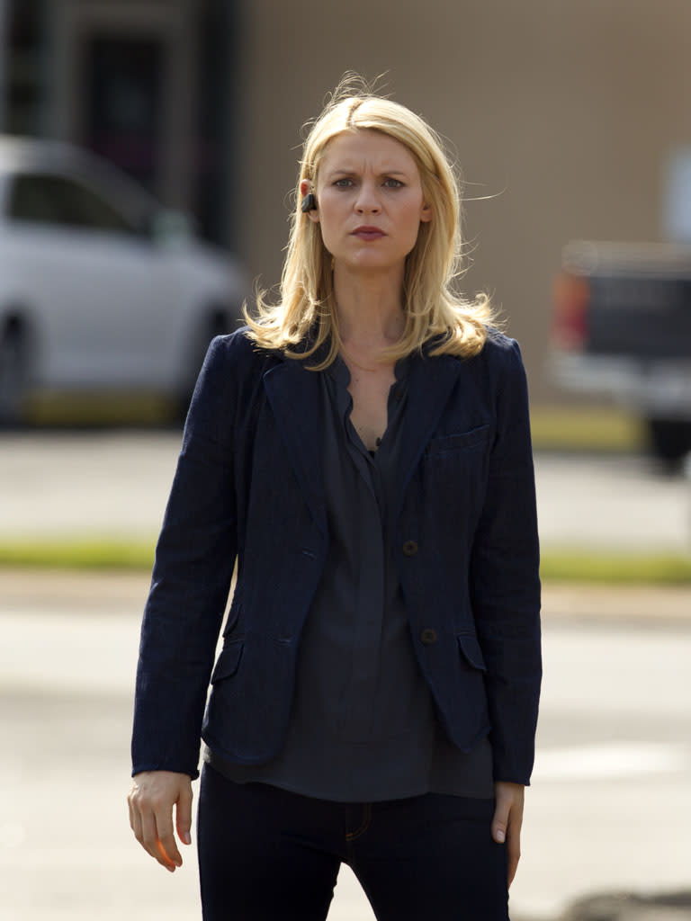 """Claire Danes as Carrie Mathison in the """"Homeland"""" Season 2 episode, """"Two Hats."""""""