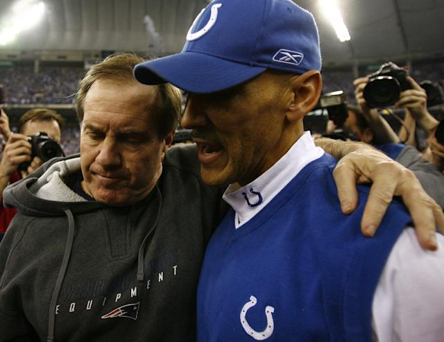 Tony Dungy finally got the best of the Patriots in 2007 in the AFC title game. (Getty Images)