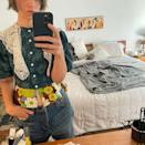 """<p>'I'm a strong believer in tailoring vintage pieces to make them fit. Don't be afraid of doing alternations on pre-loved pieces – these will be the items that will sing in your wardrobe. If you're in the US, it's worth heading to <a href=""""https://www.instagram.com/stella_dallas_nyc/?hl=en"""" rel=""""nofollow noopener"""" target=""""_blank"""" data-ylk=""""slk:Stella Dallas"""" class=""""link rapid-noclick-resp"""">Stella Dallas </a>and <a href=""""https://www.itsacurrentaffair.com/"""" rel=""""nofollow noopener"""" target=""""_blank"""" data-ylk=""""slk:A Current Affair"""" class=""""link rapid-noclick-resp"""">A Current Affair</a> in Brooklyn. And if you fancy a shopping trip out of the city, check dates online first, and head to Connecticut for the <a href=""""https://www.etflea.com/"""" rel=""""nofollow noopener"""" target=""""_blank"""" data-ylk=""""slk:Elephant's Trunk"""" class=""""link rapid-noclick-resp"""">Elephant's Trunk </a>and <a href=""""https://brimfieldantiquefleamarket.com/"""" rel=""""nofollow noopener"""" target=""""_blank"""" data-ylk=""""slk:Brimfield"""" class=""""link rapid-noclick-resp"""">Brimfield </a>flea markets. It's a bit more of a dig, but worth it.'</p><p><a href=""""https://www.instagram.com/p/CQlWH_olamP/"""" rel=""""nofollow noopener"""" target=""""_blank"""" data-ylk=""""slk:See the original post on Instagram"""" class=""""link rapid-noclick-resp"""">See the original post on Instagram</a></p>"""