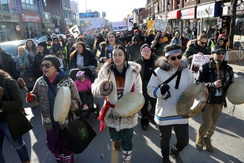 Canada's Trudeau stresses the need for peaceful end to pipeline protests