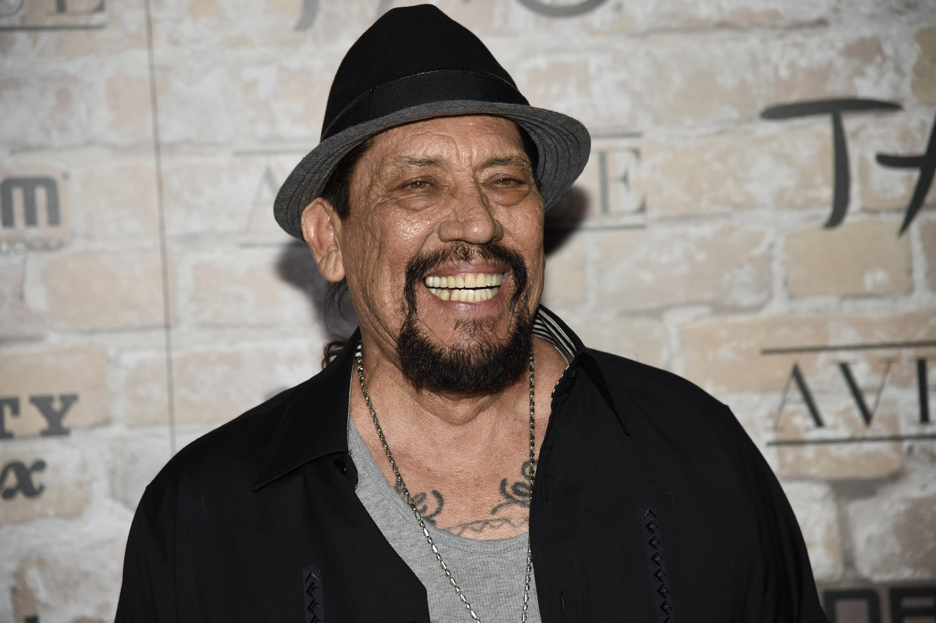 Danny Trejo arrives at the TAO, Beauty and Essex, Avenue and Luchini Los Angeles grand opening on Thursday, March 16, 2017. (Photo by Chris Pizzello/Invision/AP)