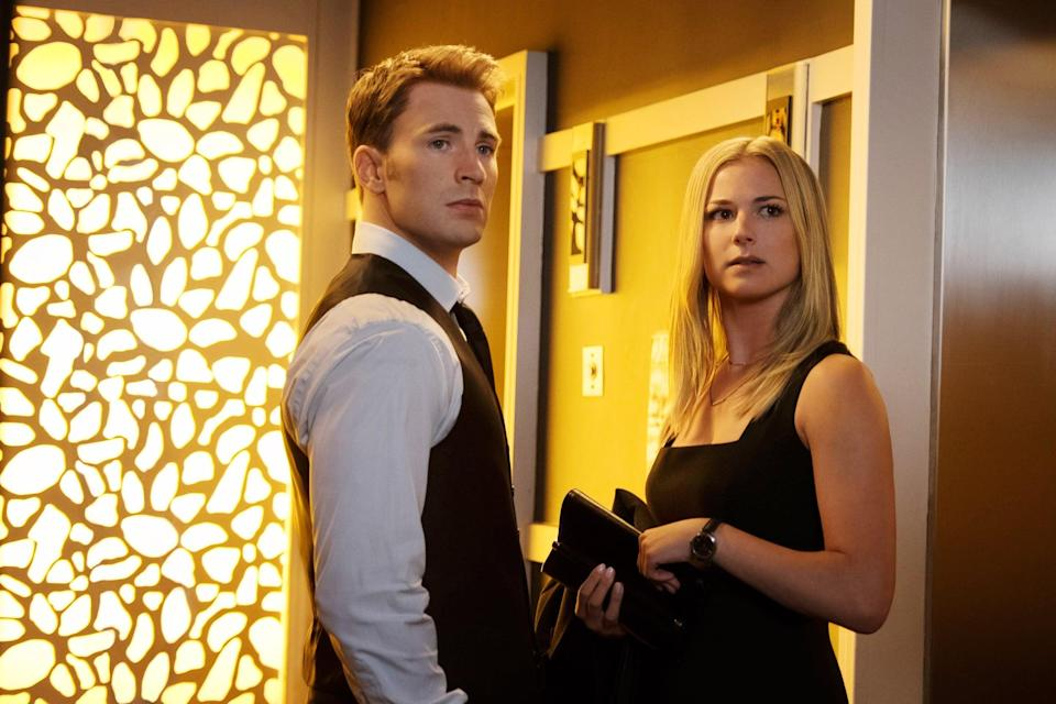 """<p><strong>For Sharon Carter:</strong> Since she's an agent of S.H.I.E.L.D., wear a professional pair of black pants and a light blue button-down. Feel free to add a blond wig and a gun holster.</p> <p><strong>For Captain America:</strong> Since he's such an iconic character, just pick up <a href=""""https://www.spirithalloween.com/thumbnail/pc/1382/c/3810/1448.uts"""" class=""""link rapid-noclick-resp"""" rel=""""nofollow noopener"""" target=""""_blank"""" data-ylk=""""slk:his trademark costume"""">his trademark costume</a> (you can always just wear a t-shirt with the Captain America logo on it, too!).</p>"""