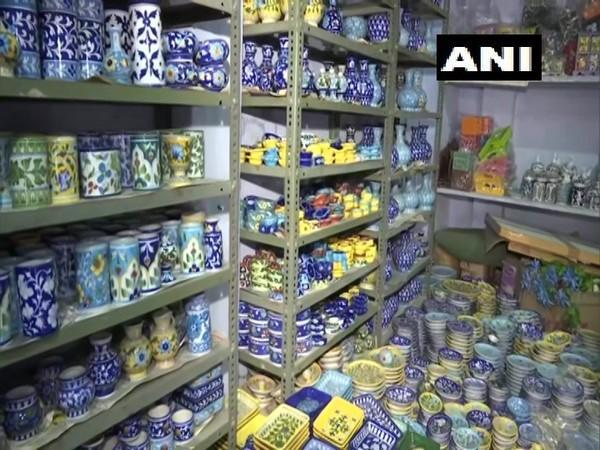 Famous 'blue pottery' art from Rajasthan's Jaipur. (Photo/ANI)