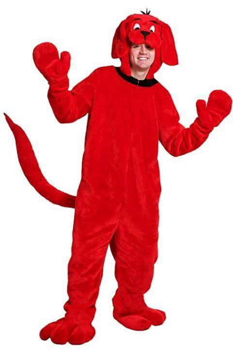 """<p><strong>Fun Costumes</strong></p><p>amazon.com</p><p><strong>$59.99</strong></p><p><a href=""""https://www.amazon.com/dp/B075MMLD2N?tag=syn-yahoo-20&ascsubtag=%5Bartid%7C10055.g.22127013%5Bsrc%7Cyahoo-us"""" rel=""""nofollow noopener"""" target=""""_blank"""" data-ylk=""""slk:Shop Now"""" class=""""link rapid-noclick-resp"""">Shop Now</a></p><p>This costume is also easy to DIY with a pair of red sweatpants and a red hoodie — just add felt ears and eyes.</p>"""