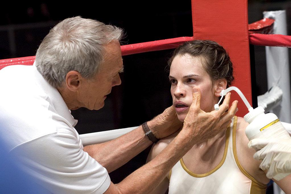"""<a href=""""http://movies.yahoo.com/movie/1808600393/info"""">Million Dollar Baby</a> (2004): Director and co-star Clint Eastwood has said this appealed to him because it was about a search for family, and indeed, the scenes he shares with Hilary Swank, who functions as a daughter figure in his life, provide the film's heart. But as Maggie Fitzgerald, a young woman who comes from nothing, trains hard and turns herself into an unlikely champion, Swank also inspires all on her own. And the ending is just devastating, even if you know it's coming. The film earned Academy Awards for best picture, director, actress and supporting actor: Morgan Freeman as Eastwood's longtime friend and verbal sparring partner outside the ring."""