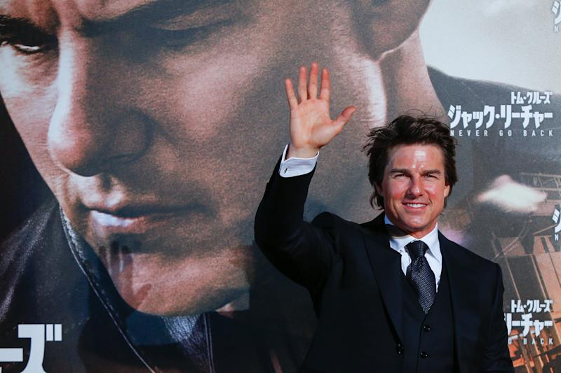 "Tom Cruise at the premiere of ""Jack Reacher: Never Go Back."" (Ken Ishii via Getty Images)"
