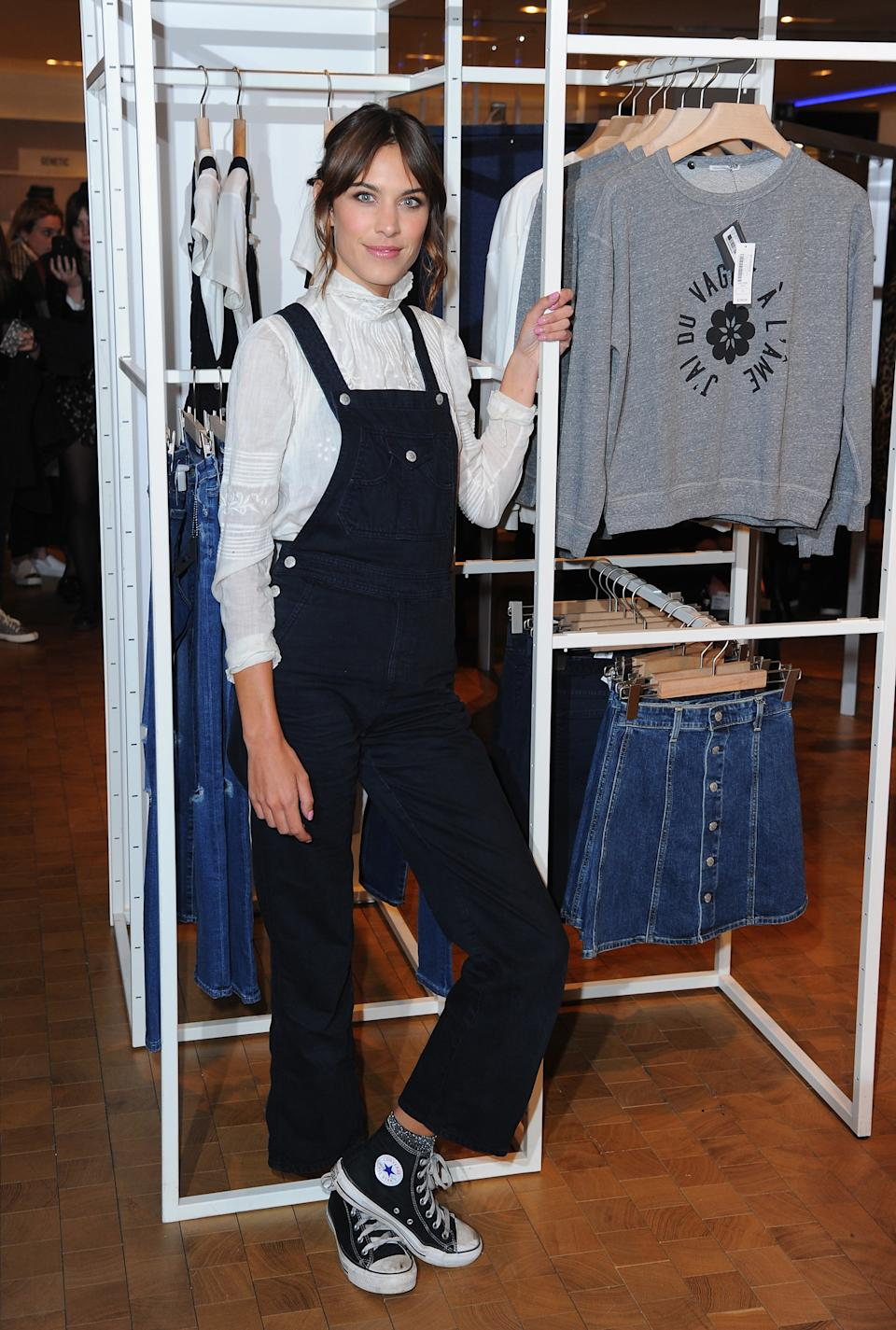 LONDON, ENGLAND - JANUARY 15:  Alexa Chung launches her new jeans collection 'Alexa Chung x AG' at Selfridges on January 15, 2015 in London, England.  (Photo by Eamonn McCormack/WireImage)