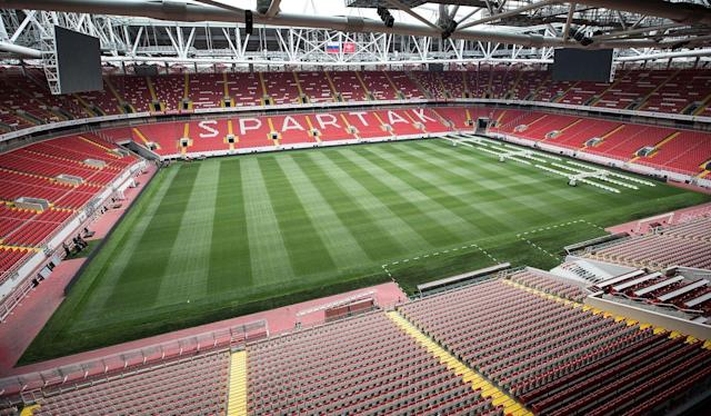<p>Spartak Stadium, Moscow<br>Year opened: 2014<br>Capacity: 45,360<br>Which games: Four group games, one last 16 tie<br>Fun fact: Exterior features thousands of diamonds, which can change colour depending on which team is playing. </p>