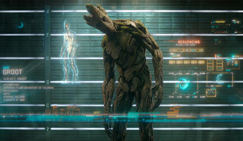 A Guardians of the Galaxy still featuring Groot