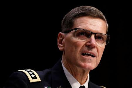 U.S. Army General Joseph Votel, commander of the U.S. Central Command, testifies before the Senate Armed Services Committee on Capitol Hill in Washington