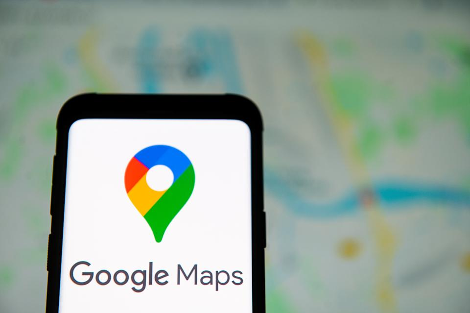 POLAND - 2020/03/23: In this photo illustration a Google Maps logo seen displayed on a smartphone. (Photo Illustration by Mateusz Slodkowski/SOPA Images/LightRocket via Getty Images)