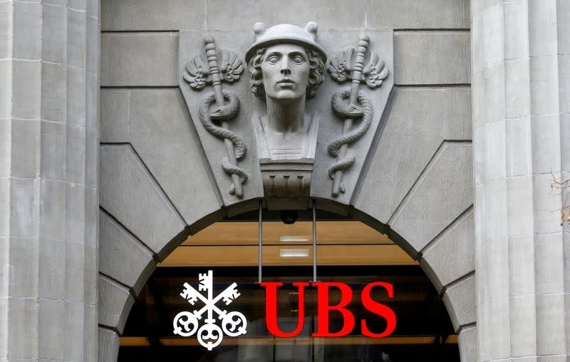 FILE PHOTO: FILE PHOTO: The logo of Swiss bank UBS is seen in Zurich