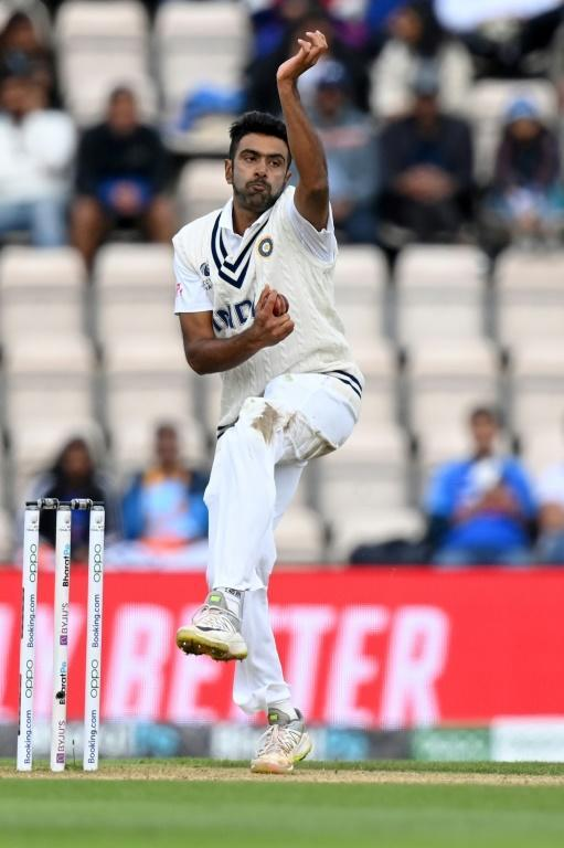 Play on - India's Ravichandran Ashwin bowls in the World Test Championship final at Southampton on Tuesday