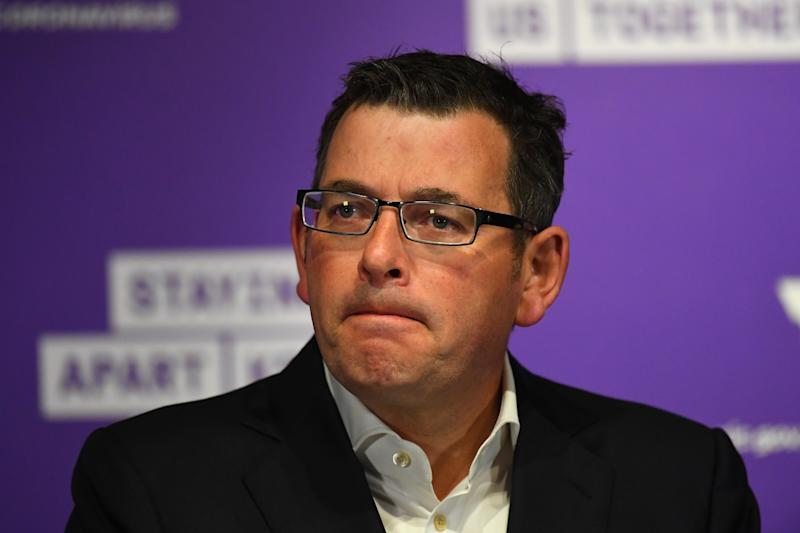 Victorian Premier Daniel Andrews defended the handling of the outbreak on Thursday. Source: AAP
