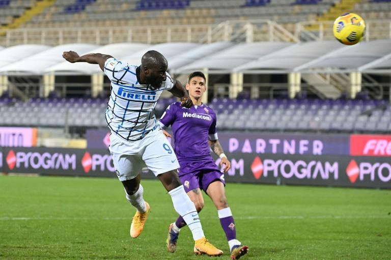 Inter Milan forward Romelu Lukaku headed in the winner after 119 minutes against Fiorentina.