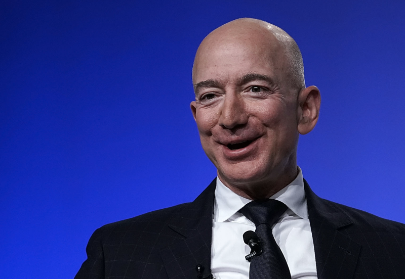 Amazon CEO Jeff Bezos, founder of space venture Blue Origin and owner of The Washington Post, participates in an event hosted by the Air Force Association September 19, 2018 in National Harbor, Maryland. (Photo: Alex Wong/Getty Images)